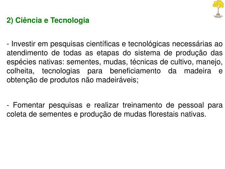 2) Ciência e Tecnologia