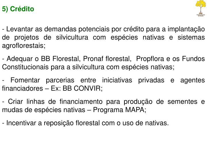 5) Crédito