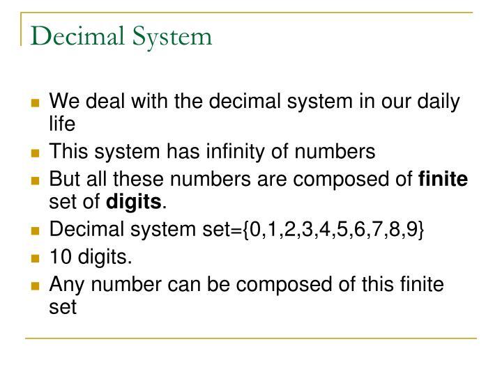 Decimal System