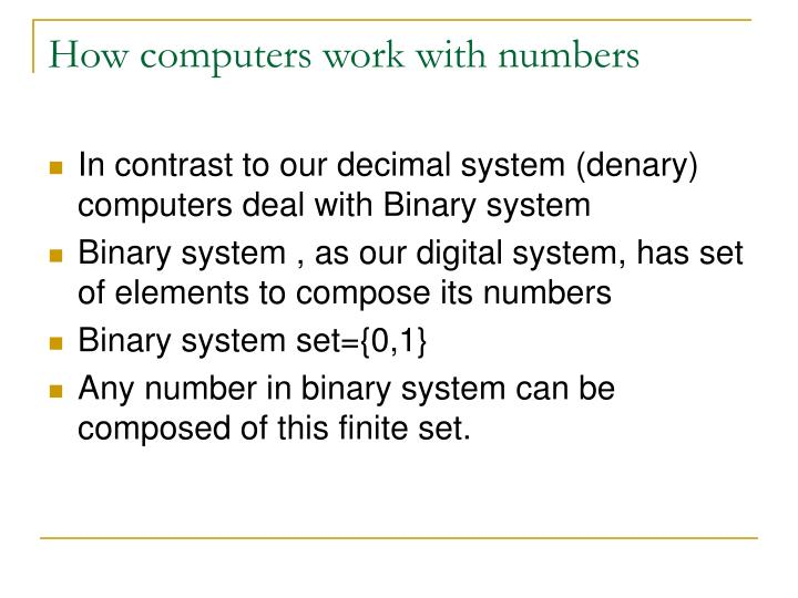 How computers work with numbers