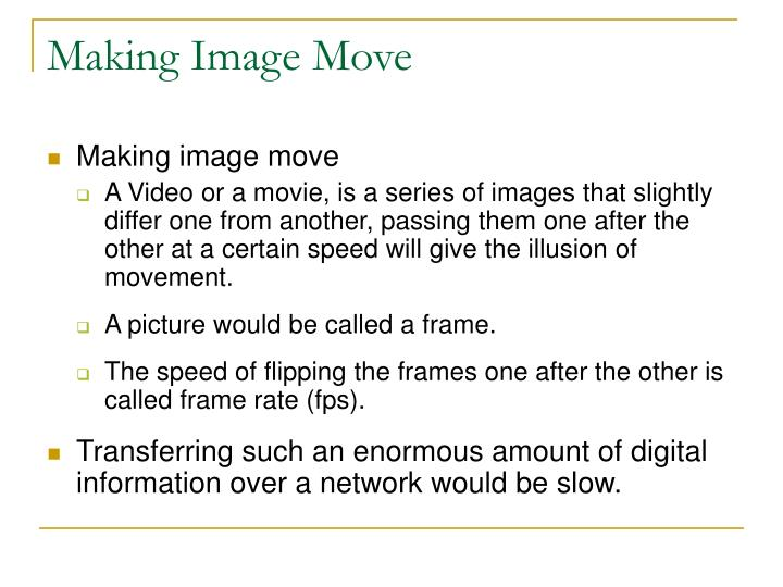 Making Image Move