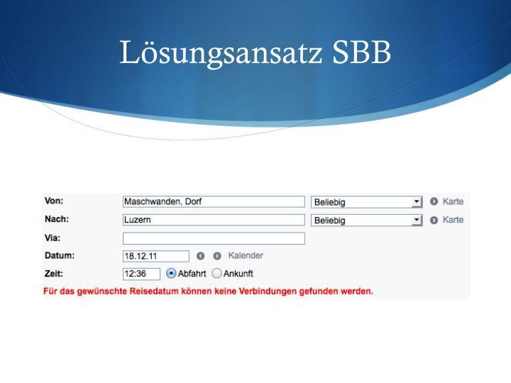 Lösungsansatz SBB
