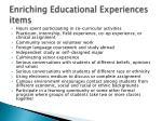 enriching educational experiences items