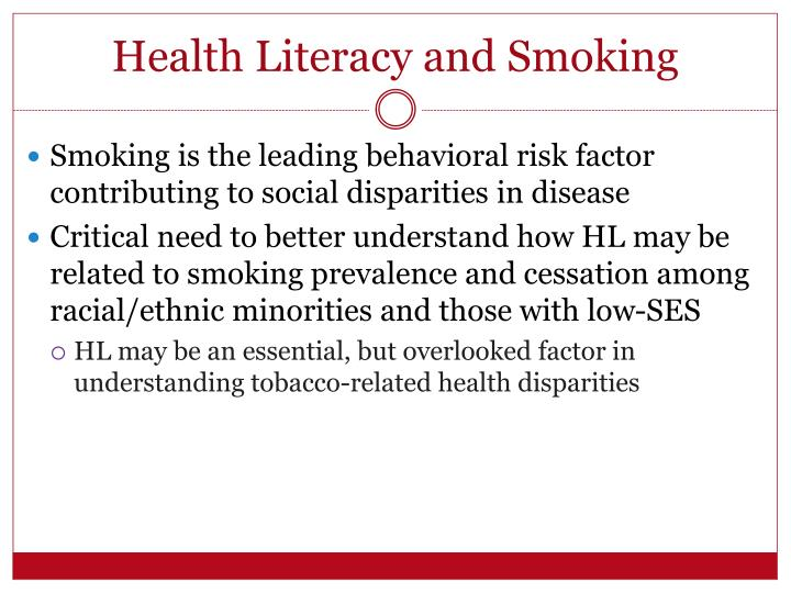 Health Literacy and Smoking