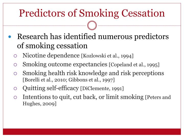 Predictors of Smoking Cessation