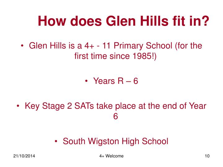 How does Glen Hills fit in?