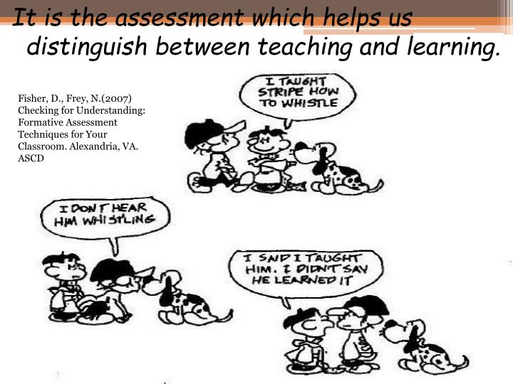 Fisher, D., Frey, N.(2007) Checking for Understanding:  Formative Assessment Techniques for Your Classroom. Alexandria, VA. ASCD