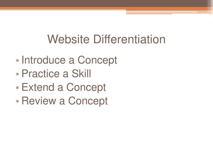 Website Differentiation