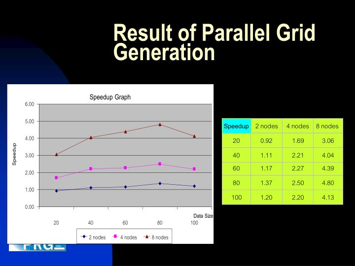Result of Parallel Grid Generation