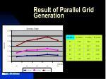 result of parallel grid generation