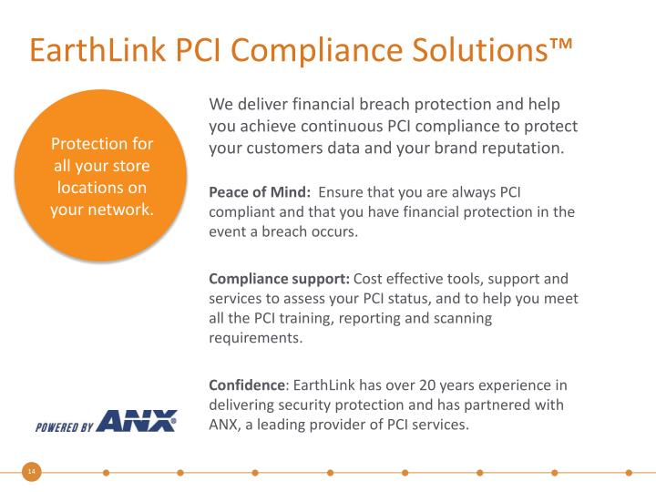 EarthLink PCI Compliance Solutions™
