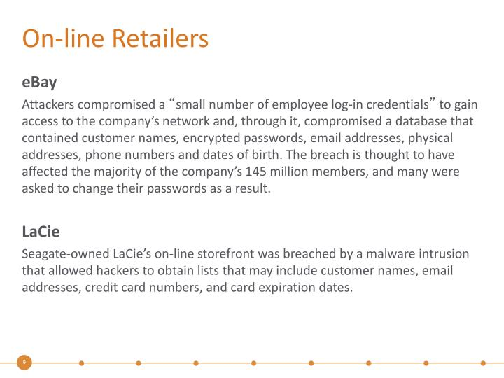 On-line Retailers