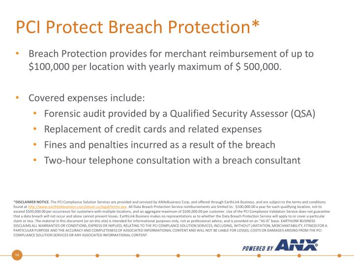 PCI Protect Breach Protection*