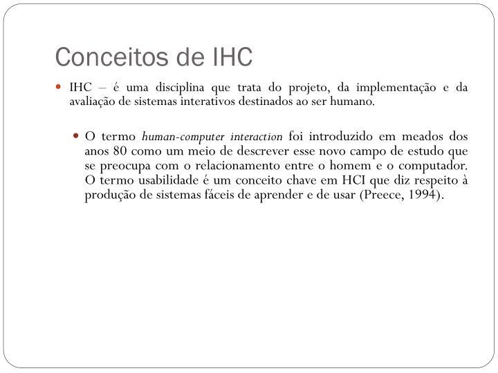 Conceitos de IHC