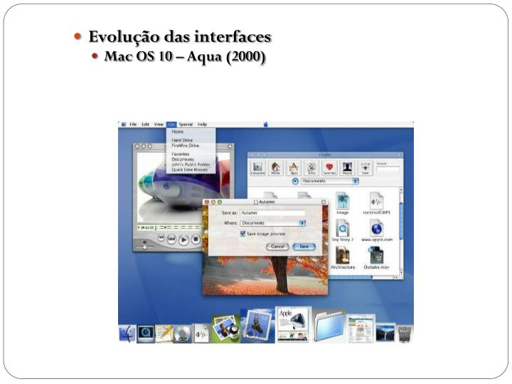 Evolução das interfaces