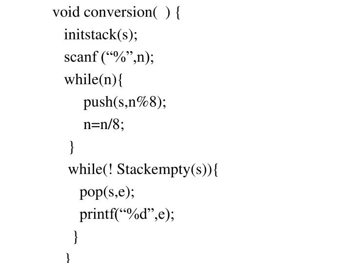 void conversion(  ) {