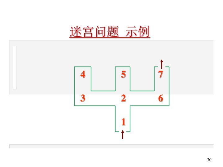 迷宫问题 示例