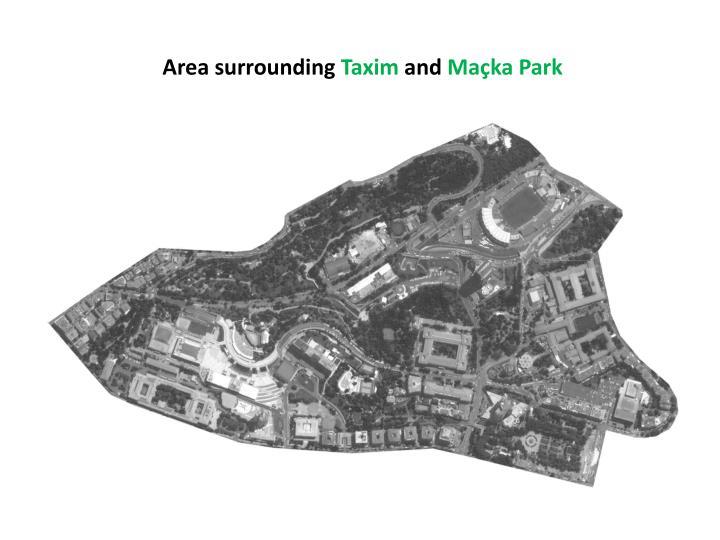 Area surrounding