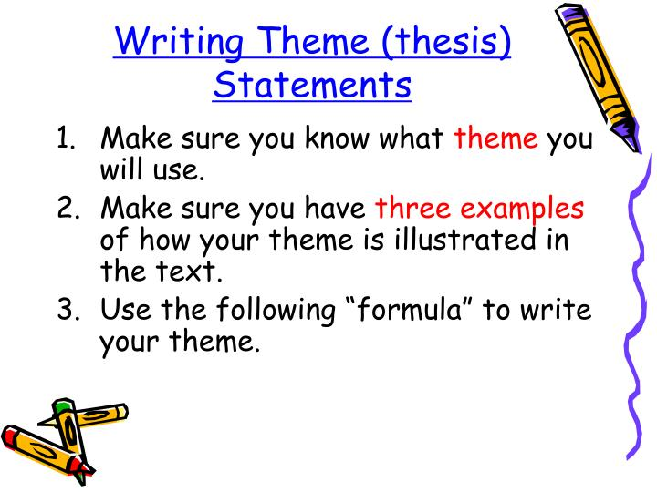 Writing theme thesis statements