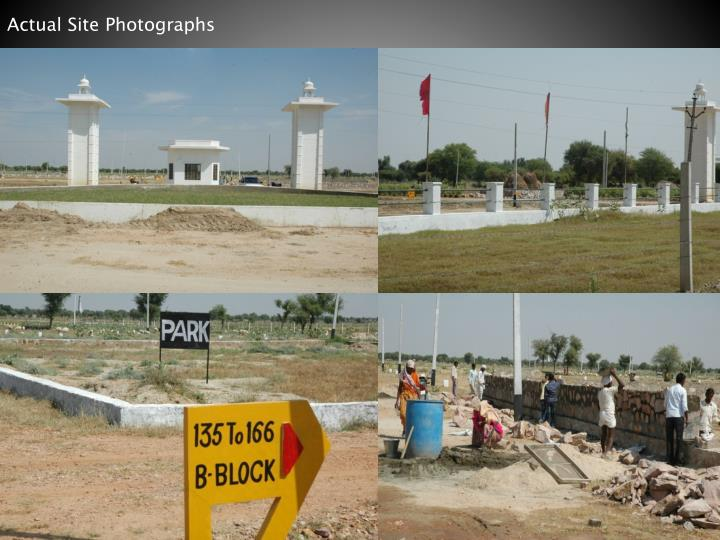 Actual Site Photographs