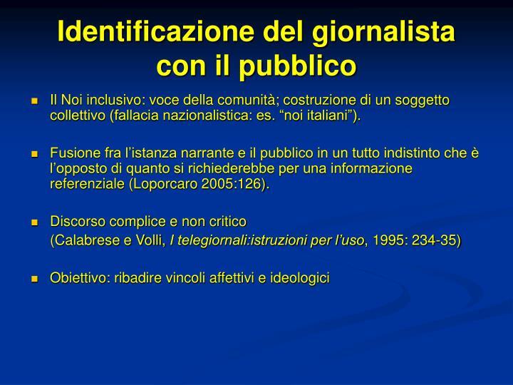Identificazione del giornalista