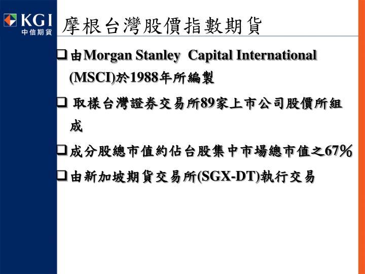 摩根台灣股價指數期貨