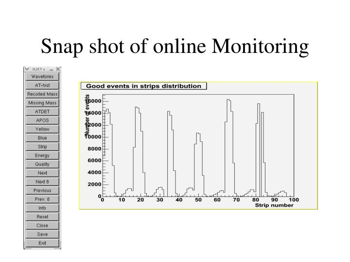 Snap shot of online Monitoring