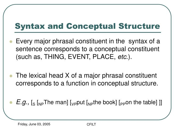 Syntax and Conceptual Structure