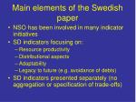 main elements of the swedish paper