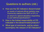 questions to authors ctd2