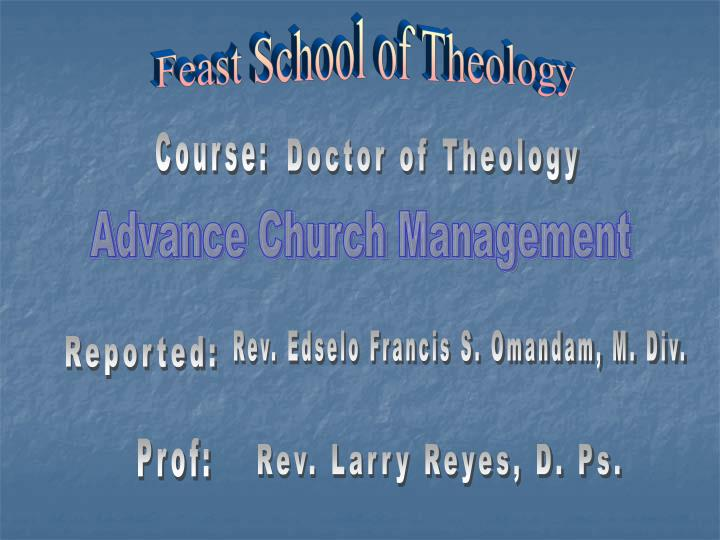 Feast School of Theology