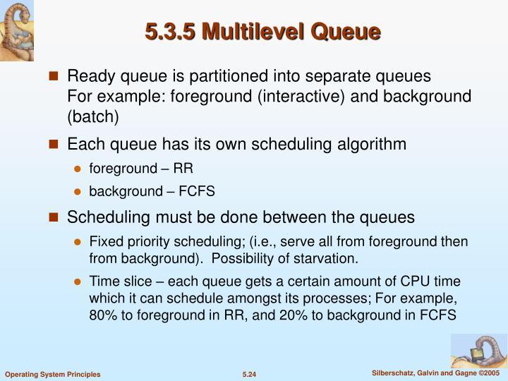 5.3.5 Multilevel Queue