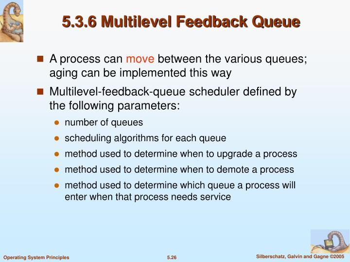 5.3.6 Multilevel Feedback Queue