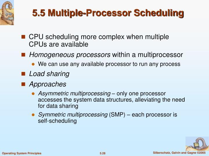 5.5 Multiple-Processor Scheduling