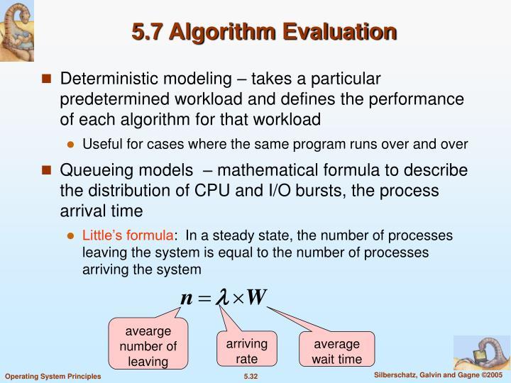 5.7 Algorithm Evaluation