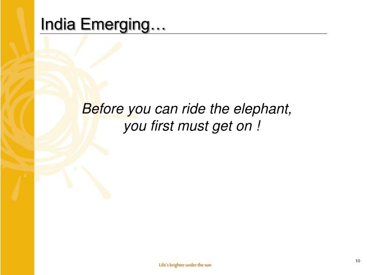 India Emerging…