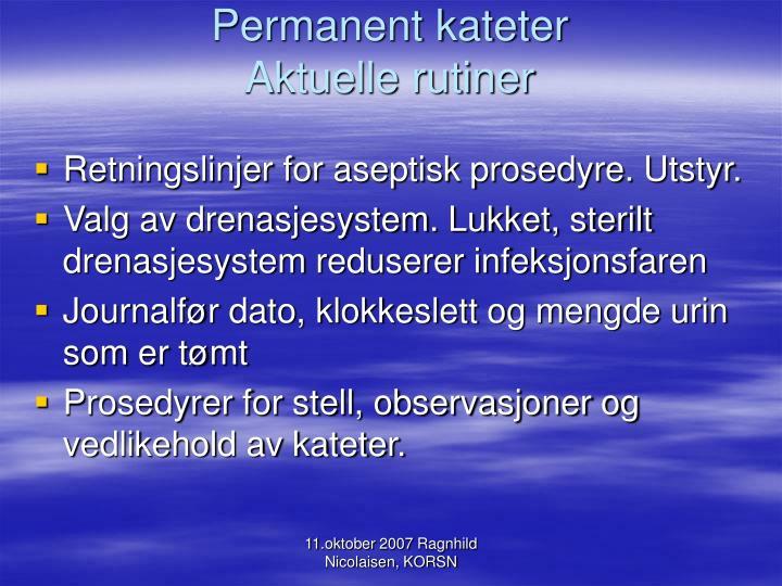 Permanent kateter
