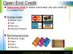 open end credit