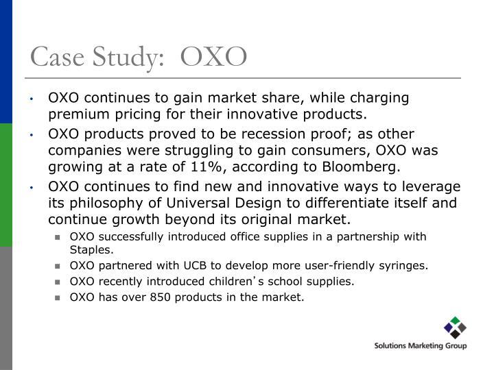 Case Study:  OXO