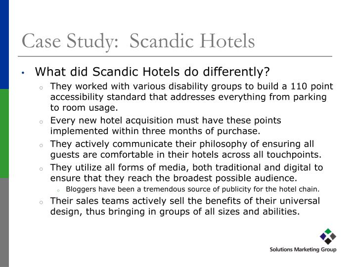 Case Study:  Scandic Hotels