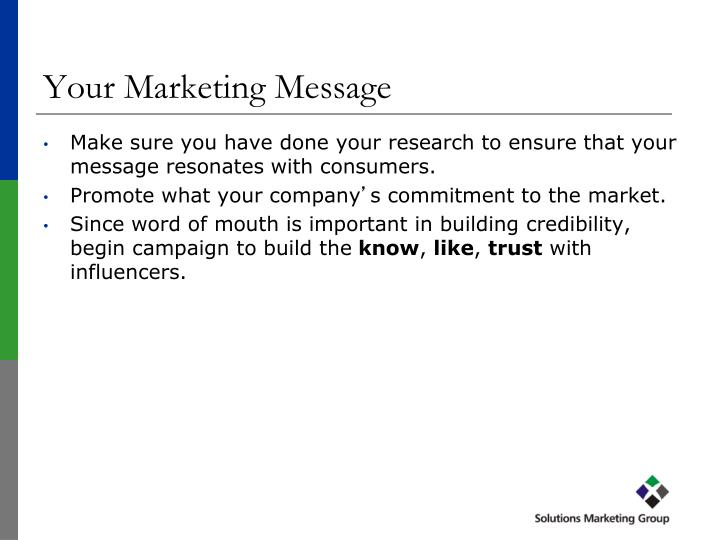 Your Marketing Message