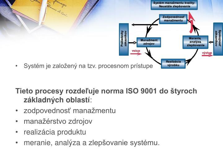 Systém je založený na tzv. procesnom prístupe