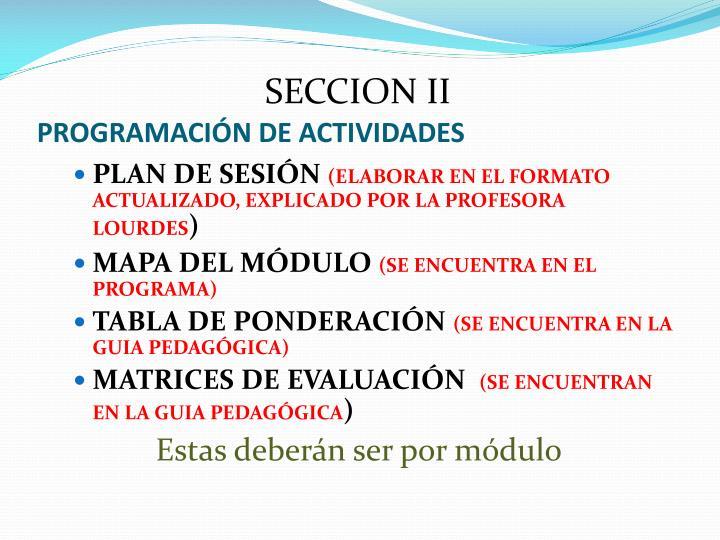 PROGRAMACIÓN DE ACTIVIDADES