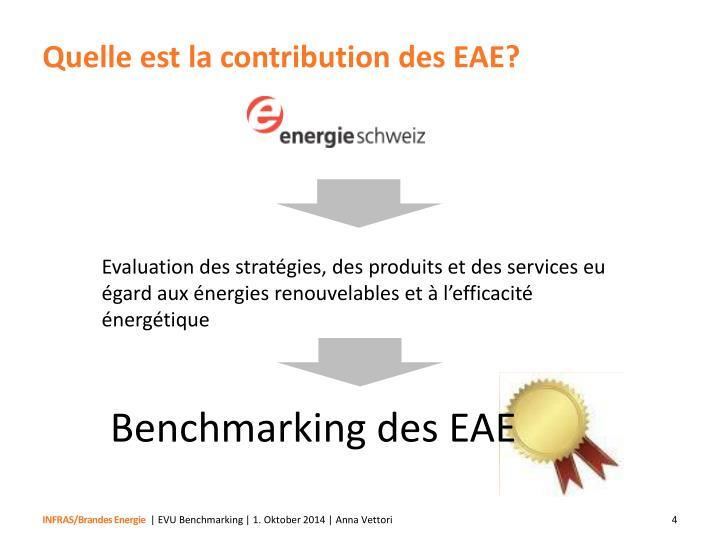 Quelle est la contribution des EAE?
