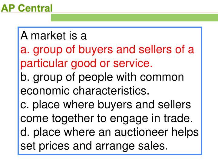 A market is a