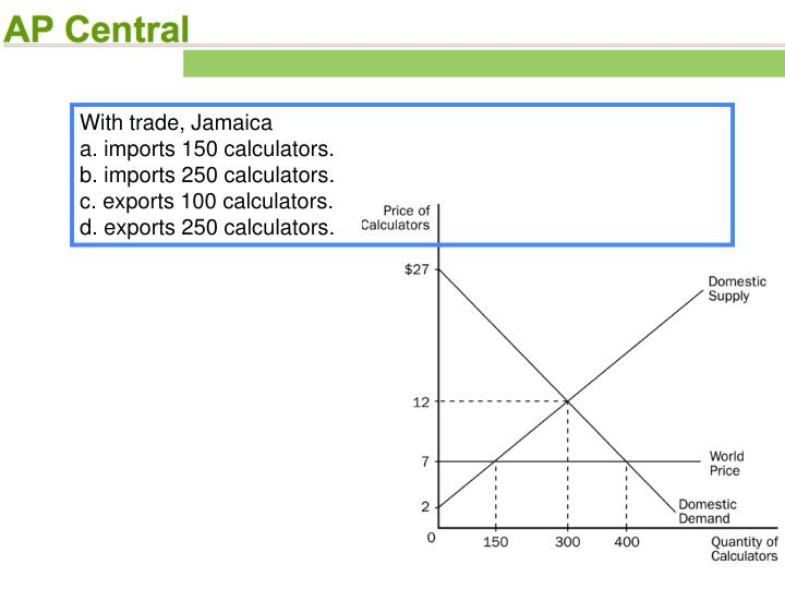 With trade, Jamaica