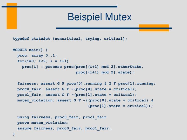 Beispiel Mutex