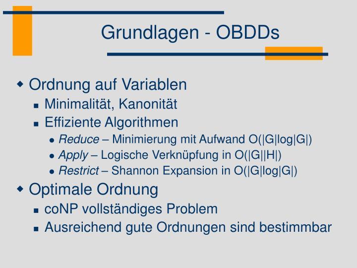 Grundlagen - OBDDs