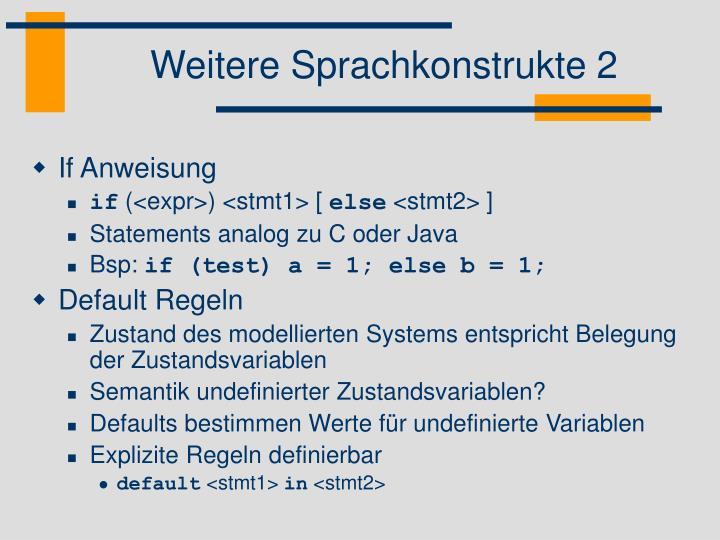 Weitere Sprachkonstrukte 2