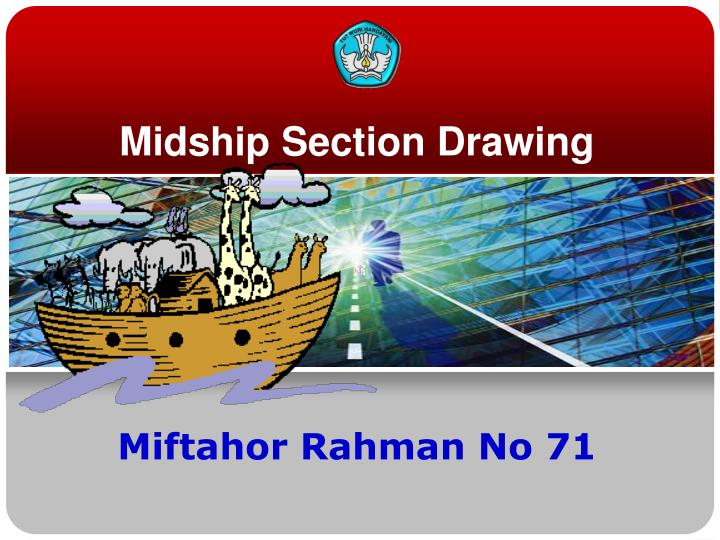 Midship section drawing